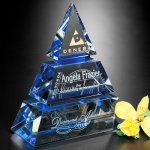 Accolade Indigo Pyramid Achievement Award Trophies