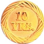 10 Year Pin Chenille Lapel Pins