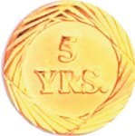 5 Year Pin Chenille Lapel Pins
