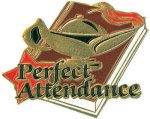 Perfect Attendance Pin Chenille Lapel Pins