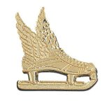 Winged Ice Skate Chenille Pin Custom Lapel Pins