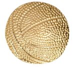 Gold Basketball Metal Chenille Letter Insignia Custom Lapel Pins
