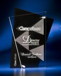 Abstract Clear and Black Acrylic Award Golf Awards