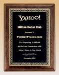 Walnut Stained Piano Finish Plaque with Brass Plate Golf Awards