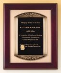 Rosewood Piano Finish Plaque Cast Frame Golf Awards