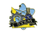 Bright Gold Educational STEM Lapel Pin Lapel Pins