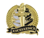 Bright Gold Academic Excellence Lapel Pin Lapel Pins