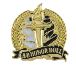Bright Gold Academic A-B Honor Roll Lapel Pin Lapel Pins
