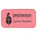 Leatherette Name Badge With Magnet Pink Name Badges | Plates