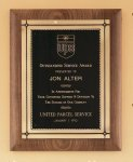 American Walnut Plaque with Antique Bronze Frame Patriotic Awards