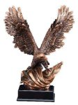 Bronze Eagle With Flag Patriotic Awards